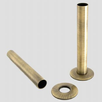 Cast Iron Radiator Pipe Shrouds 130mm - Antique Brass